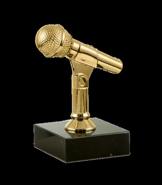 "Статуэтка ""Микрофон"" на мраморной подставке - фото 233877"