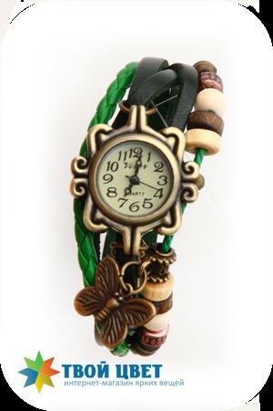 Винтажные часы - зеленые