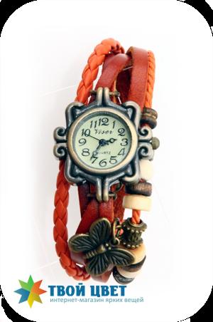 Винтажные часы - оранжевые