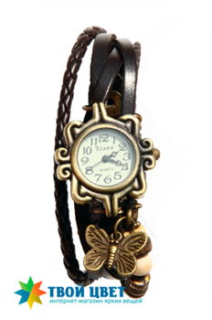 Винтажные часы - шоколадные