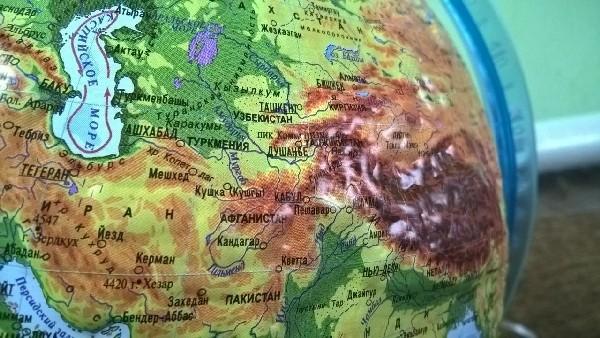 Глобус рельефный физико-политический с подсветкой и двойной картой - фото 4479