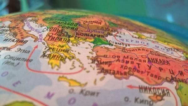 Глобус рельефный физико-политический с подсветкой и двойной картой - фото 4482