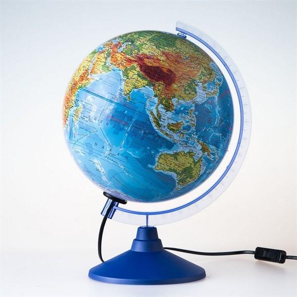 Глобус физико-политический с подсветкой d=21 см