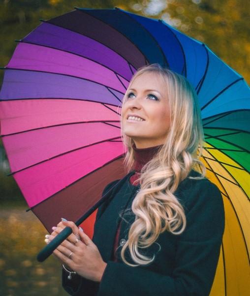 """Зонт-трость спектр """"Радуга"""" - фото 5213"""