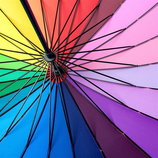 """Зонт-трость спектр """"Радуга"""" - фото 5215"""
