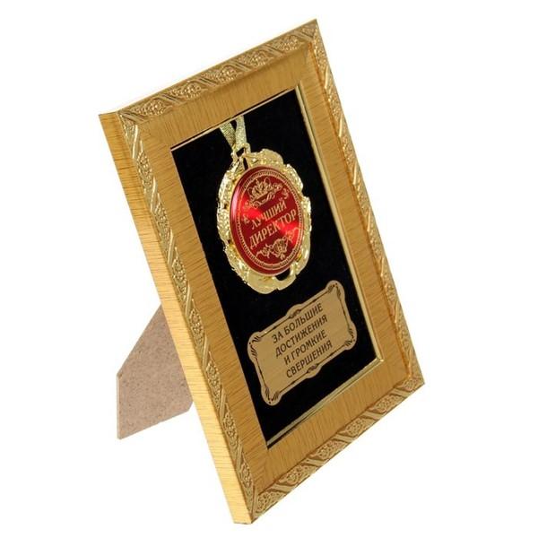 """Медаль в рамке """"Лучший директор"""" - фото 205216"""