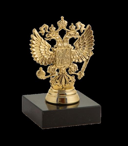 Статуэтка Герб России на мраморной подставке - фото 233859