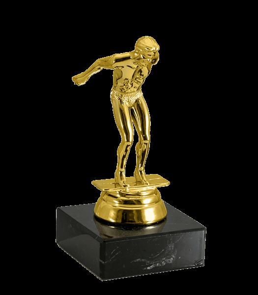 Статуэтка Плавание на мраморной подставке - фото 234002