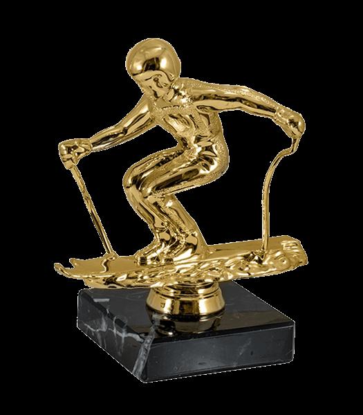 Статуэтка Лыжи на мраморной подставке - фото 234005