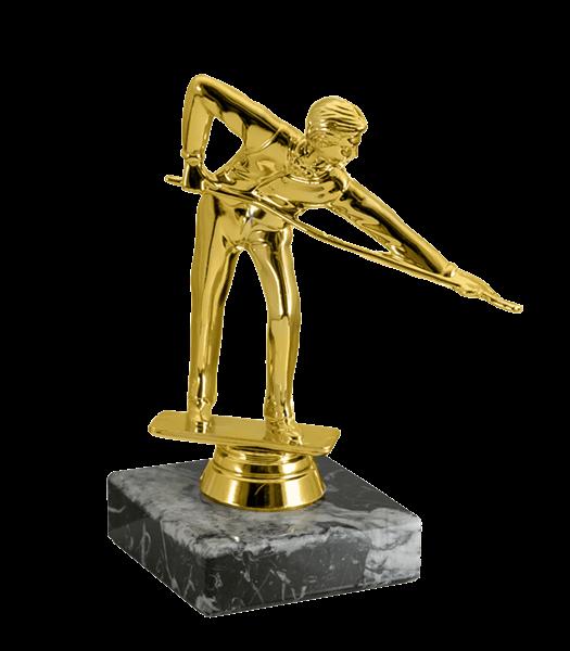 Статуэтка Бильярд на мраморной подставке - фото 234008