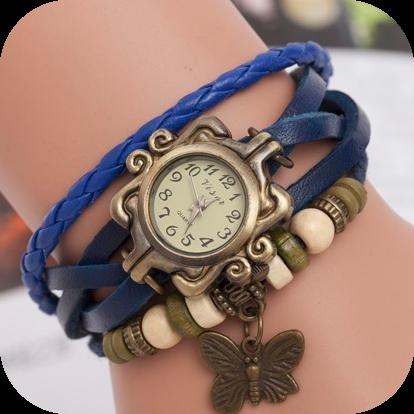 Винтажные часы - синий