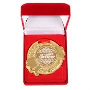 """Медаль в бархатной коробке """"Лучший директор"""""""