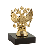 Статуэтка Герб России на мраморной подставке